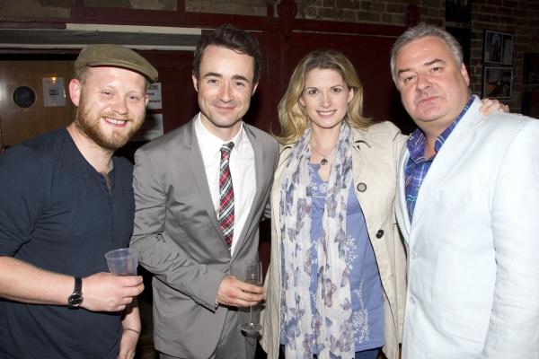 Michael Jibson, Joe McFadden, Caroline Sheen and Russell Labey Photo