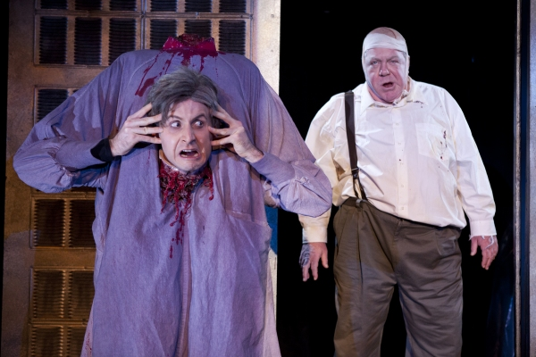 Jesse Merlin and George Wendt at First Look at RE-ANIMATOR at NYMF!