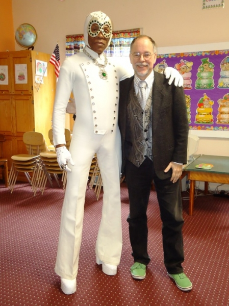 Andre De Shields in WIZ Costume and WICKED author Gregory Maguire at