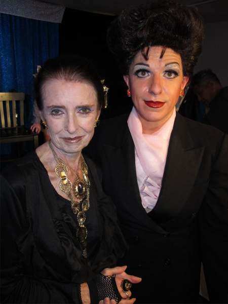 Margaret O'Brien and Peter Mac as Judy Garland at Margaret O'Brien Visits Peter Mac's GET HAPPY! A 90th BIRTHDAY CELEBRATION