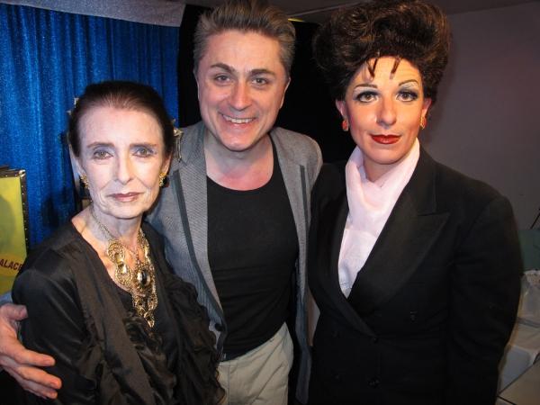 Margaret O'Brien, John Schaefer (producer) and Peter Mac as Judy Garland Photo