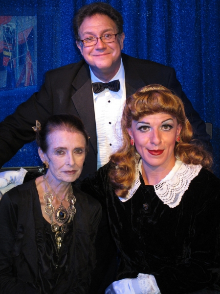 Margaret O'Brien, Bryan Miller (Musical Director) and Peter Mac as Judy Garland at Margaret O'Brien Visits Peter Mac's GET HAPPY! A 90th BIRTHDAY CELEBRATION