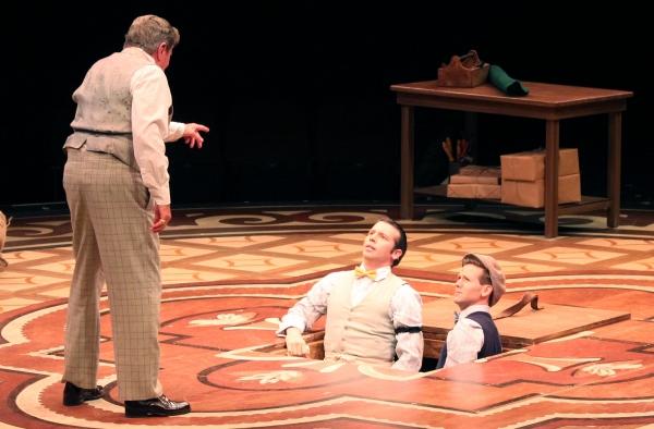 Gary Beach (Horace Vandergelder) with Matt Loehr (Cornelius Hackle) and Eric Mann (Ba Photo