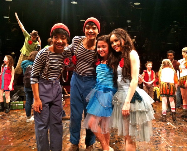 Jon Viktor Corpuz, Telly Leung, Montana Byrne (young Anna Maria), Anna Maria Perez de Photo