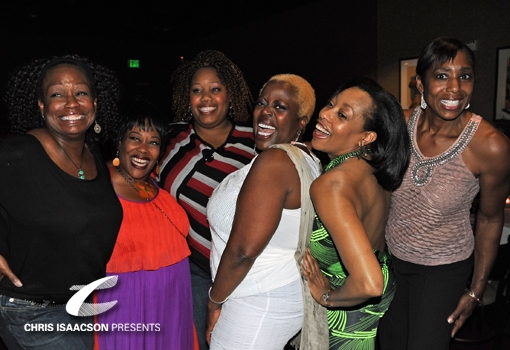 Yvette Cason, Carla Renata, Amber Snead, Lillias White, friend and Dawnn Lewis