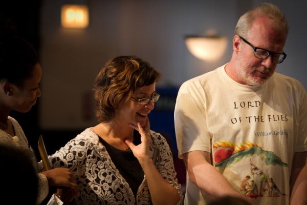 Ensemble members Anna D. Shapiro and Tracy Letts  Photo