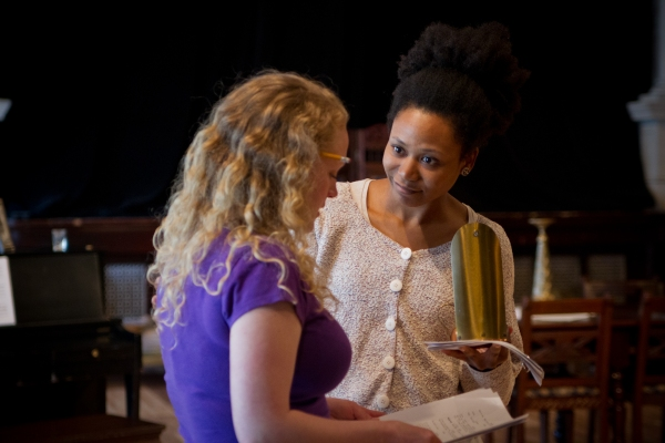 Alana Arenas (Natalia 'Natasha' Ivanovna) and Caroline Neff (Irina Prozorova)
