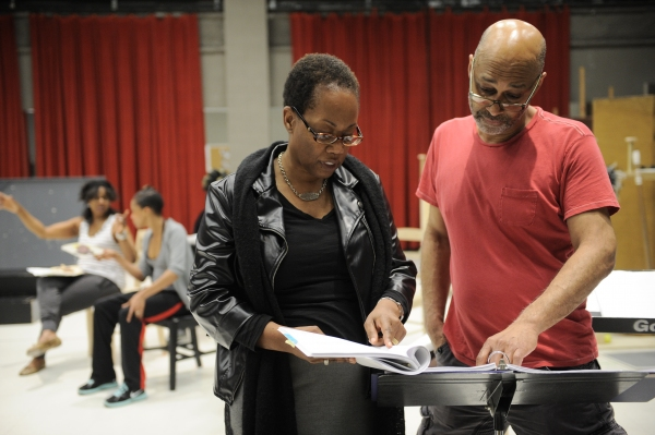 Playwright and Director Regina Taylor with music director Fred Carl