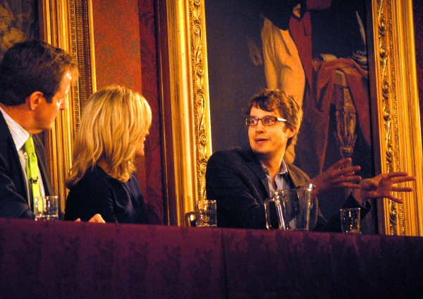 Alastair Campbell, Rachel Johnson and James Tilley Photo