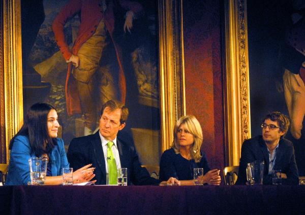 Lucinda Berger, Alastair Campbell, Rachel Johnson and James Tilley Photo