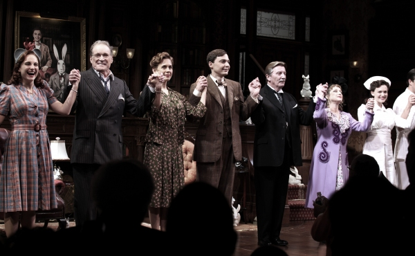 Tracee Chimo, Charles Kimbrough, Jessica Hecht, Jim Parsons, Larry Bryggman, Carol Kane, Holley Fain at Spot the Rabbit! HARVEY Opening Night Curtain Call; Parsons, Hecht, Kane, Kimbrough & More