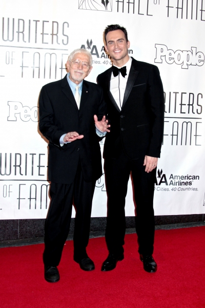 Tom Jones and Cheyenne Jackson at Bette Midler & Cheyenne Jackson at the Songwriters Hall of Fame Awards Gala