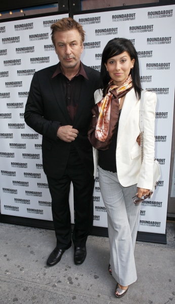Alec Baldwin and Hilaria Thomas at Stars on the HARVEY Opening Night Red Carpet