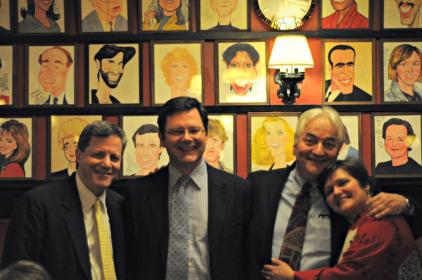 Producers at the opening night party at Sardi's: Michael Chaut, Giles Cole, Alexander Photo