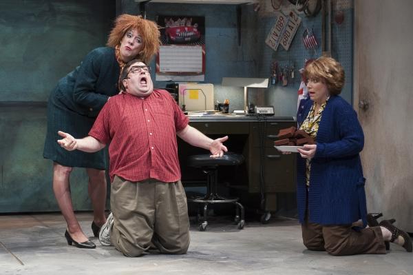 Maureen Keiller (Beaulah Gasket), Scott H. Severance (Rusty Fenders), and Leigh Barrett (Sheila B. Goodfew)
