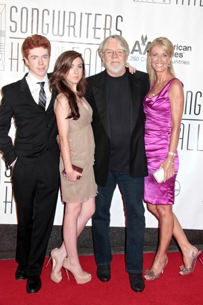 Bob Seger, wife Nita, daughter Samantha and son Cole Photo