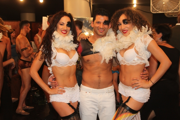 Nina Lafarga, Dennis Henriquez and Afra Hines at Backstage at BROADWAY BARES XXII - 'Happy Endings' Galore!