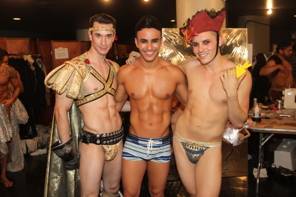 John Carroll, Judah Gavra and Sean Maddox at Backstage at BROADWAY BARES XXII - 'Happy Endings' Galore!