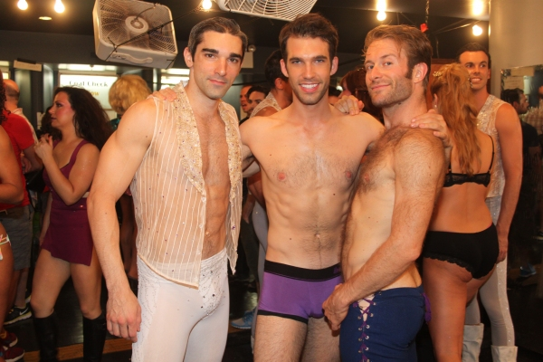 Peter Nelson, Johnny Stellard and Colin Cunliffe at Backstage at BROADWAY BARES XXII - 'Happy Endings' Galore!