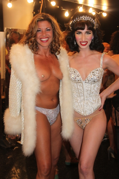 Rachelle Rak and Nikka Graff Lanzarone at Backstage at BROADWAY BARES XXII - 'Happy Endings' Galore!