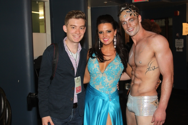 Tony Marion, Rachel Potter and Ryan Watkinson at Backstage at BROADWAY BARES XXII - 'Happy Endings' Galore!