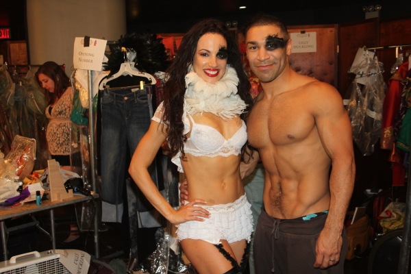 Nina Lafarga and Sam Cahn at Backstage at BROADWAY BARES XXII - 'Happy Endings' Galore!