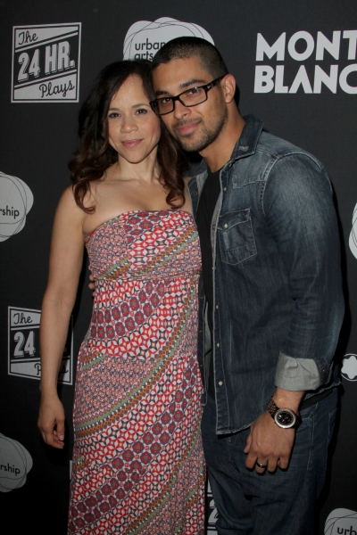 Rosie Perez and Wilmer Valderrama at Hollywood Actors at the Montblanc and Urban Arts Partnership's 24 HOUR PLAYS in LA