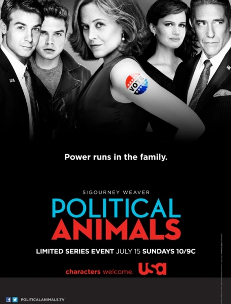 Photo Flash: First Look - Poster Art for USA's POLITICAL ANIMALS