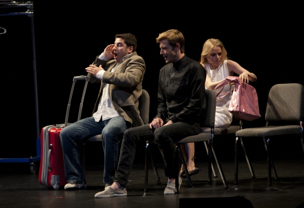 Jason Biggs, Gabriel Mann and Mircia Monroe  at Jason Biggs, Tracie Thoms, Rosie Perez, et al. Take Part in 24 HOUR PLAYS!