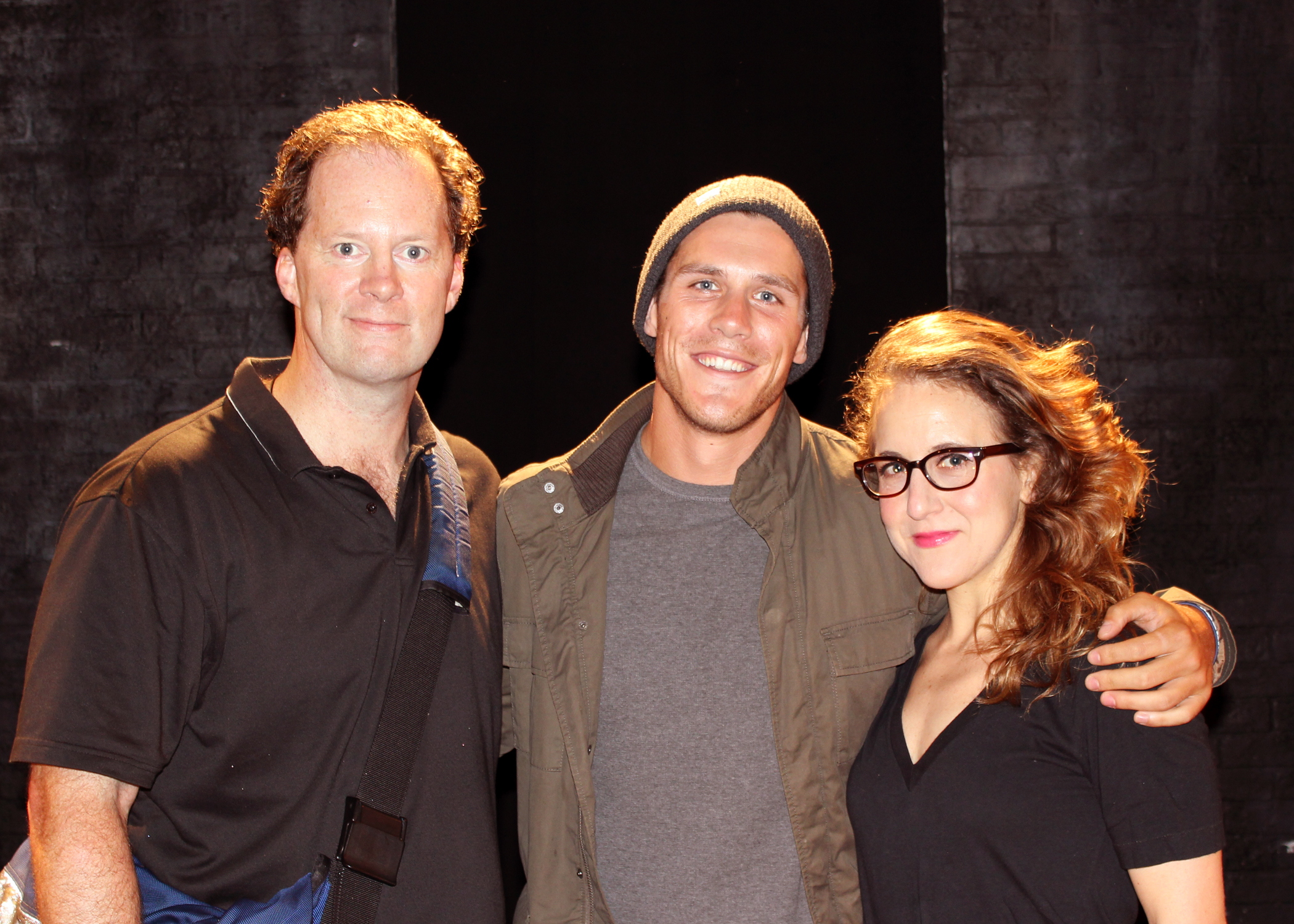 Photo Flash: TMZ's Peter O Riordan Visits SILENCE! The Musical