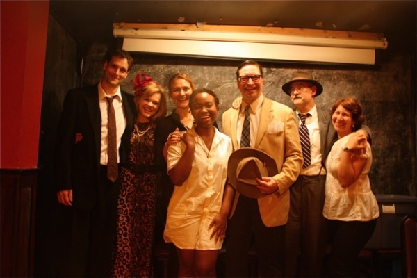 Kohl Sudduth, Ana Reeder, Cusi Cram, Danielle Rennalls, J. Eric Cook, Peter Hirsch, and Suzanne Agins at First Look at Rising Phoenix Rep's RADIANCE