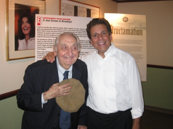 Fyvush Finkle (left) and Jake Ehrenreich (r) Photo