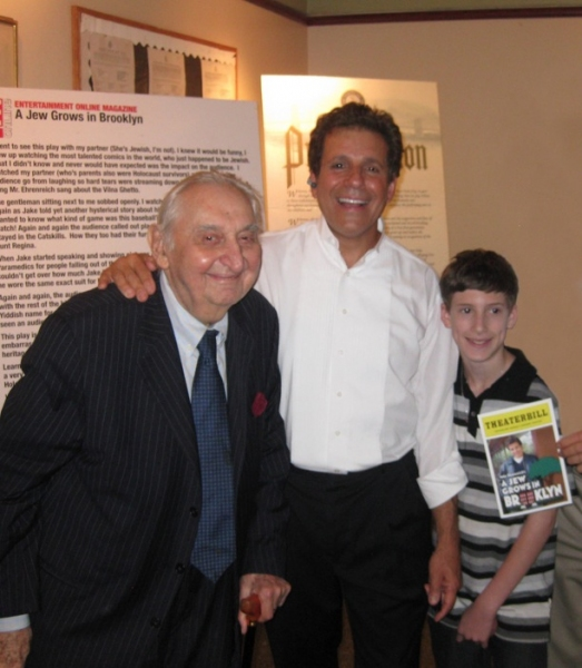Fyvush Finkle (l) and Jake Ehrenreich (c) and Dovy Ehrenreich (r) Photo