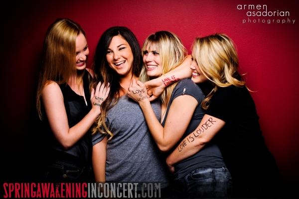 Kelley Jakle, Olivia Noelle, Caitlin Ary, Jamie Lee Barnard at Exclusive glory|struck's  SPRING AWAKENING- the 'Love Is Louder' Portfolio