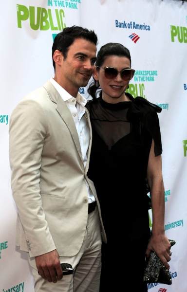 Keith Lieberthal, Julianna Margulies at The Public Theater Celebrates 50 Years at the Delacorte & Honors Al Pacino
