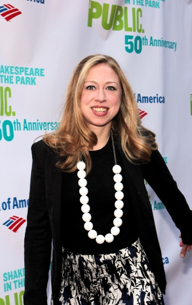 Chelsea Clinton at The Public Theater Celebrates 50 Years at the Delacorte & Honors Al Pacino