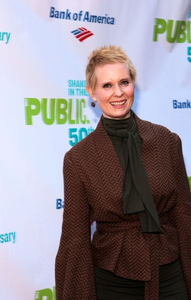 Cynthia Nixon at The Public Theater Celebrates 50 Years at the Delacorte & Honors Al Pacino