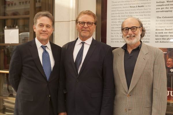 Boyd Gaines, David Rasche and Peter Friedman at Broadway's Best Honors Manhattan Theatre Club's Lynne Meadow