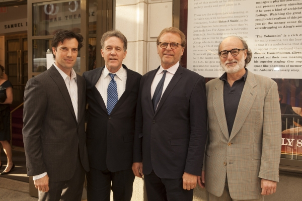 Lorenzo Pisoni, Boyd Gaines, David Rasche and Peter Friedman at Broadway's Best Honors Manhattan Theatre Club's Lynne Meadow