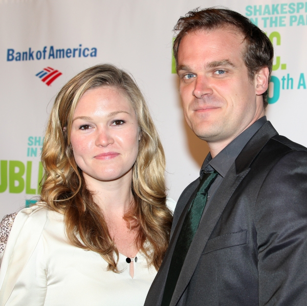 Julia Stiles & David Harbour at ROMEO & JULIET Afterparty with Jesse L. Martin & Co.
