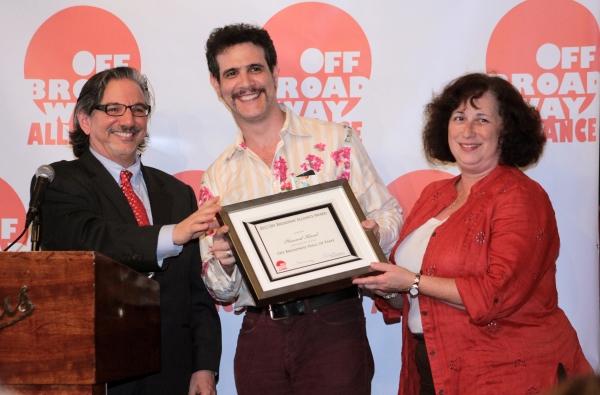 Peter Breger, Adam Feldman, Anne Kissel Elliot at Off Broadway Alliance Honors the Best of the 2011-2012 Season