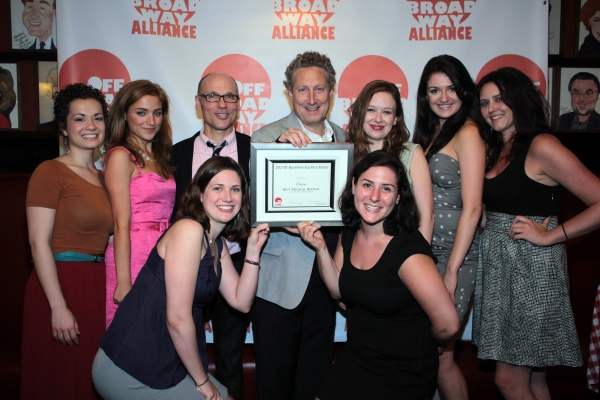 Bernard Telsey with CARRIE cast and creative team at Off Broadway Alliance Honors the Best of the 2011-2012 Season