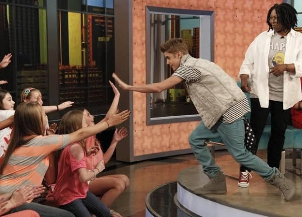 Justin Bieber & Whoopi Goldberg at Justin Bieber Performs on THE VIEW