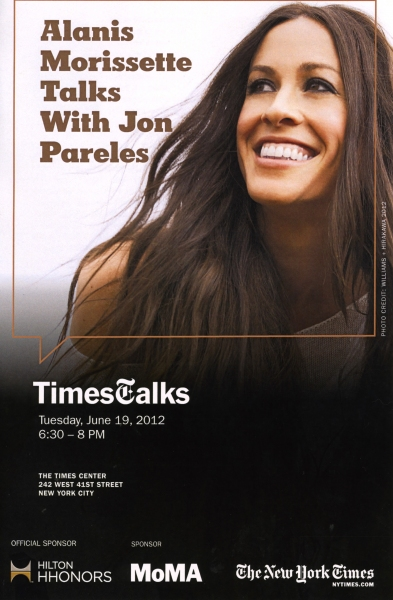 TimesTalks with Alanis Morissette