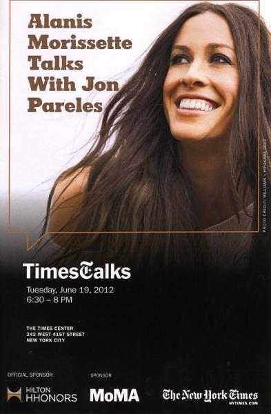 TimesTalks with Alanis Morissette