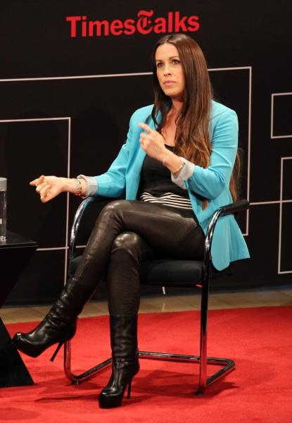 Alanis Morissette at Alanis Morissette Visits TimesTalks