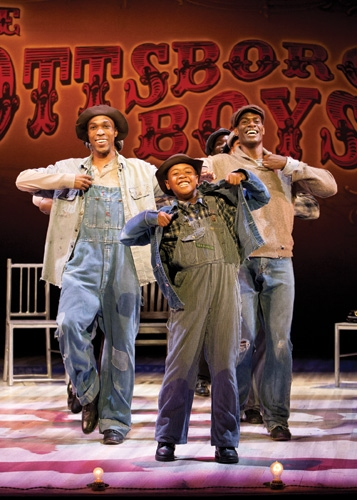 David Bazemore, Nile Bullock and Eric Jackson at  First Look at A.C.T.'s SCOTTSBORO BOYS!