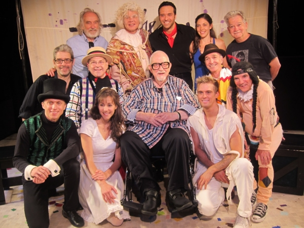 The Fantasticks company with composer Harvey Schmidt