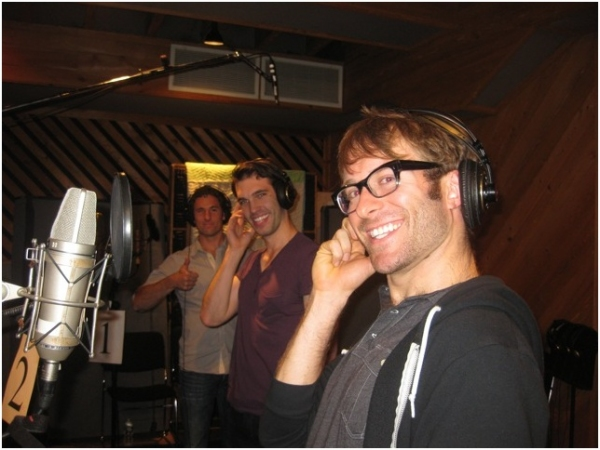 Alek Spevek, Johnny Stellard and Colin Cunliffe at Ricky Martin, Elena Roger, Michael Cerveris and the Cast of EVITA in the Recording Studio!