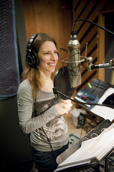 Elena Roger at Ricky Martin, Elena Roger, Michael Cerveris and the Cast of EVITA in the Recording Studio!